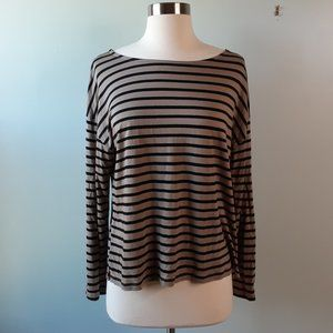 {Madewell} Libretto Stripe Wide Sleeve Top Sz Med